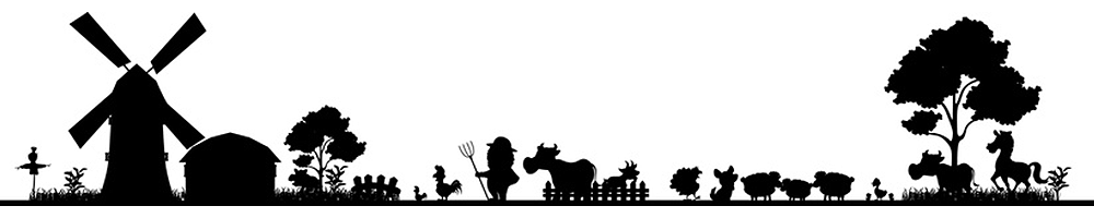 A farmyard silhouette display